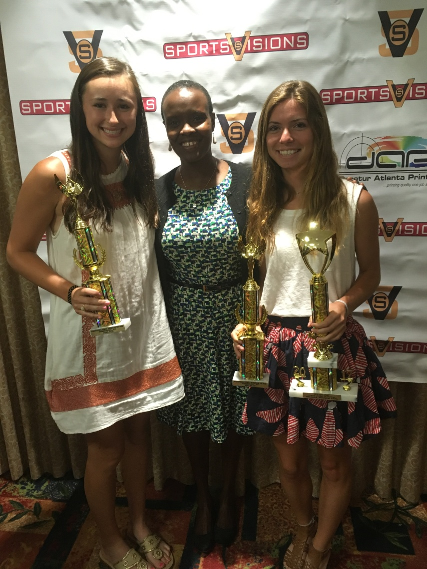 Sports Vision Luncheon - Abigail and Abbie with Dr. C.jpg